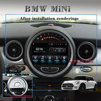 Wholesale build car console - 7 quot Quad core HD screen Android Car DVD GPS Navigation for Mini Cooper with G Wifi DVR OBD DAB
