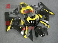 Wholesale Gsxr Black Yellow - free shipping+8 gifts yellow and black For SUZUKI GSXR 600 750 2001-2003 Fairings