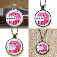 Pendant Necklaces South American Unisex 10pcs Love Monster Cute Kawaii Kids reat Valentines Day gift inspired Necklace keyring bookmark cufflink earring bracelet