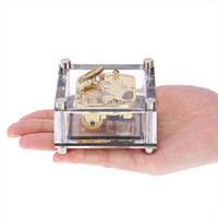 Wholesale Castle in the sky Note Wind up gold mental musical movement Musical box cm could put your picture in