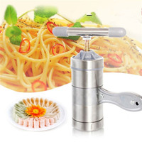 Kitchen Metal ECO Friendly 2016 New Portable Manual Multifunctional Stainless Pasta Machine Cooking Tools Noodle Maker Machine Hand-cranked Pasta Maker