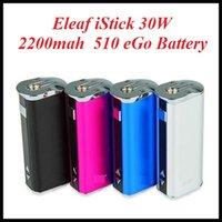 Wholesale Vw Screen - Eleaf istick 30W mod istick 30W battery With OLED Screen 2200mah VV VW box mod With USB Cable VS eleaf istick 10W 20W