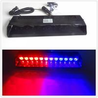 предупреждение аварийного автомобиля оптовых-12 светодиодов аварийного предупреждение трафика советник автомобиля строб светодиодные вспышки света красный синий