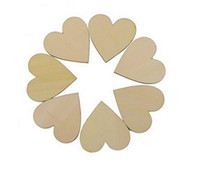 Wholesale Love Heart Shape Light - 100 pcs pack Mini Wooden Love Heart Shapes Gift Making Decor Scrapbooking Craft Card 20x20mm Wood Craft