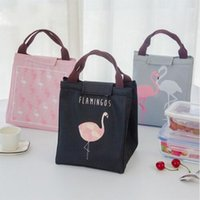 Flamingo Impermeable Oxford Lunch Bag Comida Termal Picnic Bolsas de Almuerzo para Mujeres niños Men Cooler Lunch Box Bag Tote