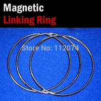 Wholesale Large Magic Sets - Wholesale- Large Size Magnetic Linking Ring 3 Rings Set,Diamter 31cm,Stainless Steel - Magic Tricks,Stage,Illusion,Gimmick,Comedy,Wholesale