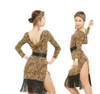 2016 Nouvelle arrivée latine concurrence Dress Leopard / Tiger / Zebra Grain Femmes Latin Dance Skirt Cha Cha / Rumba / Costumes Samba