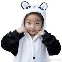 Wholesale Kigurumi For Kids - Kigurumi Pajamas For Kids Panda Leotard Onesie Festival Christmas Animal Sleepwear International Children's Day Patchwork Flannel Kigur