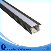 luces de tubo de meteoros conjunto rojo al por mayor-Perfil de aluminio LED de 1 m de longitud. Artículo No.LA-LP10 perfil de tira de LED adecuado para tiras de LED de hasta 11 mm de ancho.