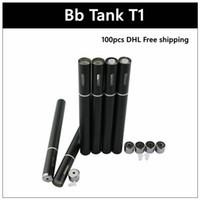 Wholesale Disposable Tanks - BB Tank T1 disposable ecig - DHL Disposable 510 Hemp Oil Vaporizer With Vapor Pen Single Black ecigs Capacity 0.25ml 0.5ml