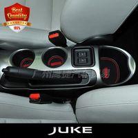 Wholesale Slot Cars Set - 11pcs set Car Cup Mat for JUKE Car Accessories Gate Slot Pad Door Pad Luminous Non-Slip Interior Door Pad Cup Mat