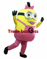 Wholesale Minions Ships For Sale - Wholesale-on sale! free shipping,pink Despicable me minion mascot costume for adults pink despicable me mascot costume