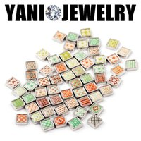 Wholesale Square Plates Bulk - Heart Star Moon Cross Charms Mix Alloy Square Floating Locket Charms Bulk Charms for Bracelet Floating Charm Locket
