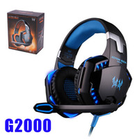 Wholesale Headset Headphone Microphone Pc - Gaming Headphones Stereo Noise Cancelling Headsets Studio Headband Microphone Earphones With Light For Computer PC Gamer EACH G2000