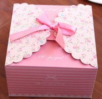 Wholesale Custom Wrapping Paper Wholesale - Party Christmas bowknot gift box romantic wedding candy favor box custom kraft paper gift box cartoon flower cardboard boxes gift wrap
