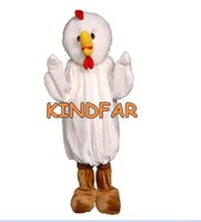 Wholesale Chicken Outfits Adults - Wholesale-Deluxe Farm Chicken Mascot Costume Adult Fancy Dress Cartoon Character Party Outfit Suit Free Ship