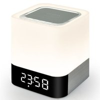 Wholesale Floor Stand Clock - Wholesale- ihens5 Portable Wireless Bluetooth Speaker and LED Light Lamp Alarm Clock with Quality Sound MP3 Player Micro TF SD Card AUX USB