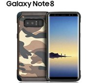 Wholesale Opp Package Iphone - Army Camouflage Pattern 2 in1 Armor Hard Phone Case For S8 S8 plus Note 8 cases S7 S7 edge with opp packages DHL FREE