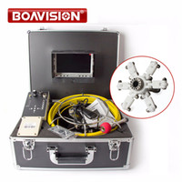 """Wholesale Drain Inspection Cameras - Drain Pipe Inspection Camera System Equipment With DVR Function 7"""" LCD Monitor 40m 132ft Cable 1000TVL Camera Night Vision"""
