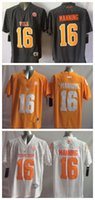 Wholesale Children Outlet - 2017 Cheap Factory Outlet Youth Tennessee Volunteers 16 Peyton Manning Kids Boys Children College Black Orange White Football Jerseys