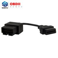 Wholesale Obd1 Code Connector - Wholesale-Free Shipping for Kia 20 PIN to 16 PIN OBD1 to OBD2 Connector Adapter Cable Kia 20PIN Car Diagnostic Extension Cable