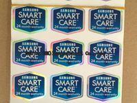 adesivo samsung s5 venda por atacado-Atacado-100 pçs / lote Original Smart Care 24 Meses de Garantia Etiqueta Etiqueta Para Samsung Galaxy N7100 Nota 3 4 5 S3 S4 S5 S6 Caixa de Pacote