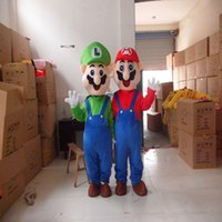 Wholesale Super Cheap Mascot Costumes - 2016 Cheap Super Mario Bros Mascot Costume Adult Factory Custom Cartoon Theme Anime Cosply Mascot Fancy Dress
