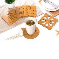Wholesale Bone Mat - Wholesale- 6 Kitchen Accessories Fish Bone Type Wood Mat Pacemat Coasters Heat Insulation Pot Mat Table Mat RZ