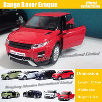 Wholesale red toy jeep - 1:36 Scale Diecast Metal Alloy Car Model For Range Rover Evoque Collection Model Pull Back Toys Car - Red  White  Black  Green