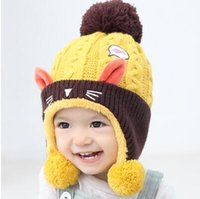 Wholesale Baby Boy Linen - 2018 new winter baby hat wool hot discounts price for boys and girls