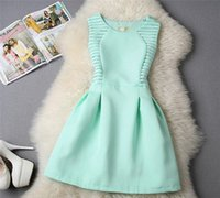 Wholesale Wholesale Tutu Women Plus - Women Flower Summer Girls Dresses Wedding Party Tutu Korea Fashion Princess Big Size S-XL 2016 New Arrival