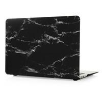 "Wholesale Macbook Air Black Case - Macbook Pro 11"" 13"" 15"" Laptop Case, White Marble Stripe Black Hard PC Cases 11 13 15 (11.6 13.3 15.4) inch"