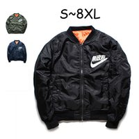 Wholesale 6xl Winter Coats - Ma1 Bomber Jacket winter jackets Pilot Anarchy Outerwear Men Army Green Kanji Japanese Merch Flight Coat Streetwear printed Plus Size S-8XL