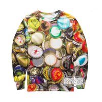 Wholesale Poland Fashion - Europe and US 3d original SuFeng Poland popular logo colorful beer cover printed sports hoodies men and women sweethearts outfit