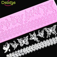Wholesale Butterfly Silicone Cake - 1 pc Butterfly Shape Silicone Fondant Mold Lace Wedding Birthday Christmas Cake Decorating Mold Lace Cake Molds Baking Tools