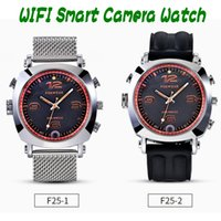 Wholesale 8g Watch Dvr - Original FOXWEAR F25 Smart Camera Watch P2P WIFi Video Recorder DVR Watch 8G 16G 32G Hidden camera spy watch for Android iOS ann