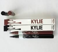 Wholesale Natural Eye Drops - 2017 Kylie Eyeliner Single Head Waterproof Liquid Eyebrow Pen Eye Liner Pencil Makeup Kylie Cosmetics Tools Black Brown Color Drop Shipping