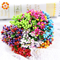 50pcs / lot mini Scrapbooking Corona regalo Bud Stame Handmake fiore artificiale Wedding Bouquet decorazione DIY del mestiere Fiore Falso