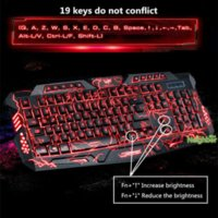 Wholesale Teclados Pc - 3-Color Switch Backlight gamer teclados Wired Mechanical Feel Keyboard PC Computer Gaming lol dota Backlit Multimedia Keyboard