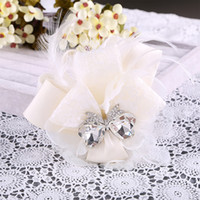 Wholesale Hair Ribbon Feathers - flower tiara wedding hair flowers accessories for the bride hair clips hair wedding tiaras bridesmaid flower