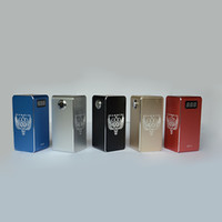 Wholesale Mechanical Fitters - Hammer of God V2.0 Box Mod Square Metal Tube fit 4pcs 18650 Battery 510 RDA Atomizer with LED Voltage Display Mechanical Vapor DHL
