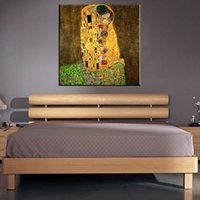 Wholesale Original famous Paint The Kiss by Gustav Klimt wall painting for home decor oil painting art print on canvas No Framed