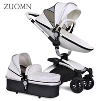 Wholesale Luxury Prams - Wholesale- New Baby Strollers 3 In 1 Carriage Prams Folded Baby Kinderwagen Luxury Landscape Carts Stroller High Quality Baby Crib GH353