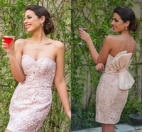Vestiti da cocktail di cotone rosa chiaro sexy Sweetheart Mini Short Sleeveless Backless party Night Club abiti da sposa corti su misura su misura