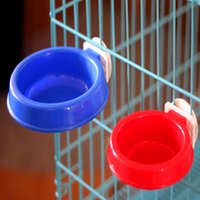 Wholesale Hanging Dog Feeders - Free shipping Pet Hanging Bowl on Cages Dog Feeders Water Food Bowl Dish Container Single Accessory for Dogs Feeding Watering Supplies