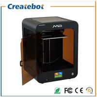 Wholesale Dual Extruder 3d Printer - FDM Createbot MID 3D Printer 205*205*250mm Printing Size full assembled desktop 3d printer Kit Touch Screen Dual Extruder With Heatbed
