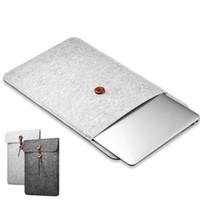 bolsa de laptop protetora venda por atacado-Woolfelt capa case 11 13 de 15 polegada de proteção bolsa para laptop / manga para apple macbook air pro retina laptop case capa