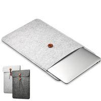 elma macbook pro 11 toptan satış-Woolfelt Kapak Kılıf 11 13 15 Inç Koruyucu Laptop Çantası / Kol Apple Macbook Hava Pro Retina Laptop için Kılıf Kapak