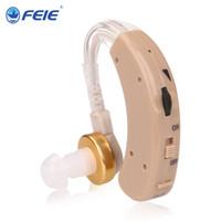 işitme cihazları satışları toptan satış-Feie En Satış İşitme 2019 yeni tasarım arkasında Kulak Ses Amplifikatörler sağır Insanlar için Gürültü hızlı kargo S-520