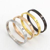 ingrosso braccialetti dorati coreani placcati-Stella coreana con bracciale di diamanti, apertura in titanio, accessori bracciale placcato in oro 18 carati